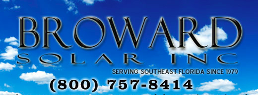Solar Water Heating by Broward Solar in South Florida