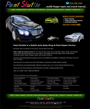 Paint Shuttle - South Florida Auto Bumper Repairs - We come to You