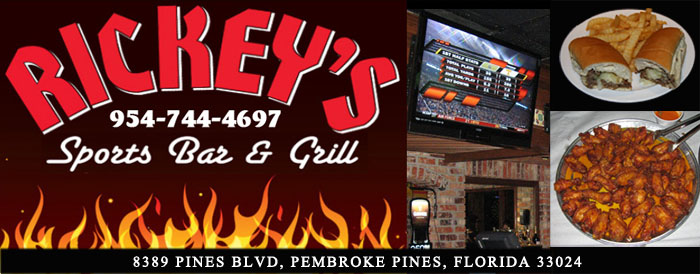 Rickey's SPorts Bar & Grill - Pembrok Pines, Florida