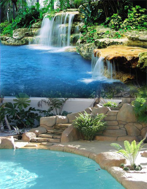 Ft Lauderdale Pool Builder and Waterfall Designer