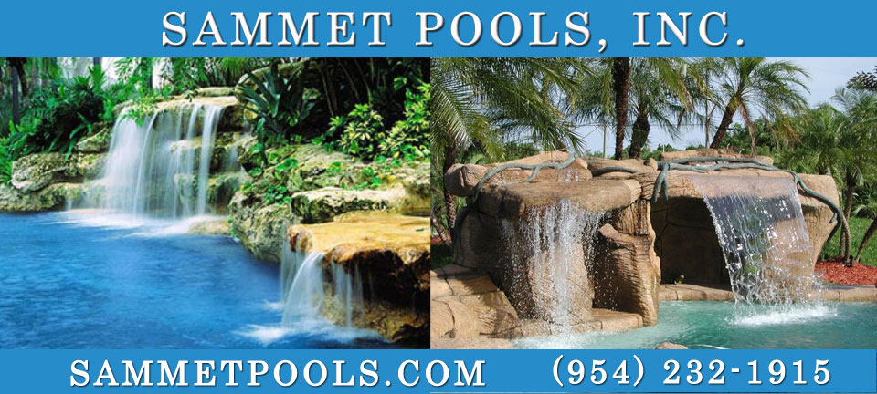 Sammet Pools, Inc. is a state licensed (CPC 056904) and insured commercial and residential pool company. in South Florida