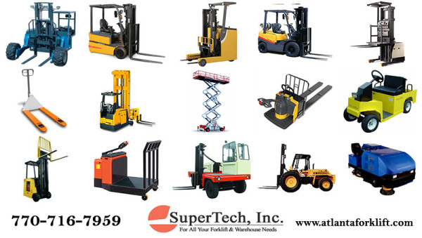 Rent a forklift by the day, week, month, or year! From SuperTech of Atlanta Georgia