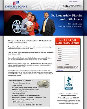 Ft. Lauderdale Auto Title Loans - Get a Cash Loan from the Equity in Your Car!
