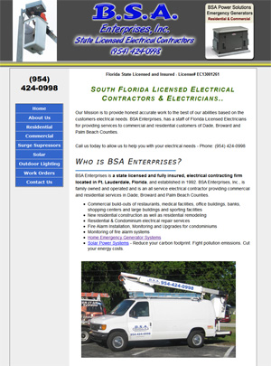 BSA Enterprises -  South Florida Licensed Electrical Contractors & Electricians