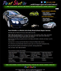 Paint Shuttle is a South Florida Mobile Auto Body Shop & Paint Repair Service
