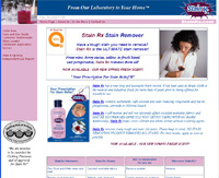 Stain Rx is the ULTIMATE stain remover! - From wine, berry stains, iodine, to fresh blood and perspiration, Stain Rx removes them all!