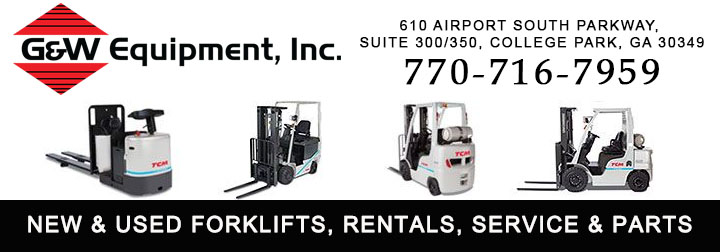 New & Used Forklifts, Forklift Rentals, Service, Parts and Training . G&W Equipment, Inc. has forklifts & lift trucks for most any job and 55 years of experience in the material handling industry.