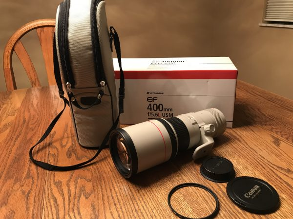 Canon EF 400mm f/5.6 L Ultrasonic (USM) Telephoto Autofocus Lens $800 - Used in excellent condition - shipping not included