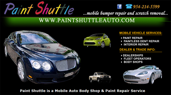 Paint Shuttle - South Florida Mobile Auto Body Repair Services