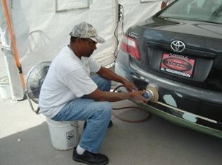 Paint Shuttle Bumber Repairs