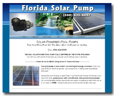 Solar Powered Pool Pumps. Take Your Pool Pump Off The Grid - With the Power of the Sun